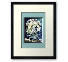 French Bicycle advertising, beautiful clowns, angels, wings Framed Print