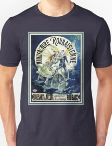 French Bicycle advertising, beautiful clowns, angels, wings Unisex T-Shirt