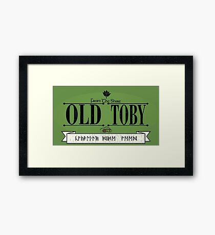 Old Toby Tobacco Framed Print