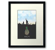 AHOY! - Have you met ted? - pineapple version Framed Print