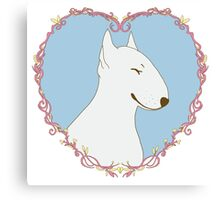 Love Bull Terrier - Pastel Canvas Print