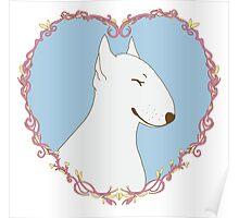 Love Bull Terrier - Pastel Poster