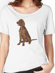 Irish Setter 'Waiting for his Master' Women's Relaxed Fit T-Shirt