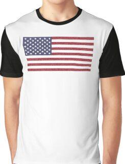 Paisley American Flag Graphic T-Shirt