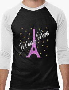 JE T'AIME PARIS FOREVER Men's Baseball ¾ T-Shirt