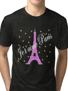 JE T'AIME PARIS FOREVER Tri-blend T-Shirt