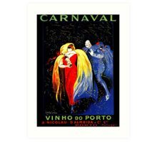 Famous Leonetto Cappiello port wine ad for carnival Art Print