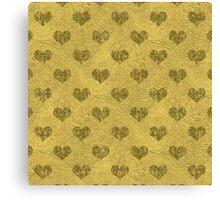 Faux Gold Foil Hearts Canvas Print