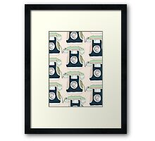 Retro Telephone Framed Print