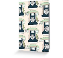 Retro Telephone Greeting Card