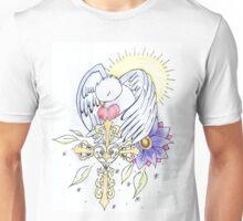 bird and cross tattoo design Unisex T-Shirt