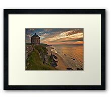 Mussenden Temple Sunset Framed Print