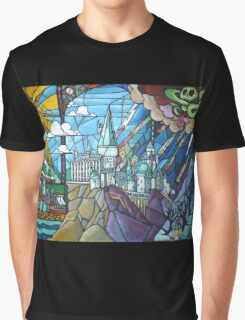 Hogwarts stained glass style Graphic T-Shirt