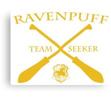 Ravenpuff Seeker in Yellow Canvas Print