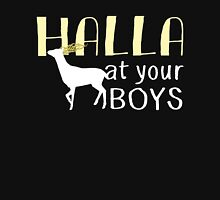 Halla At Your Boys Women's Fitted Scoop T-Shirt