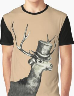Deer with Top Hat Graphic T-Shirt