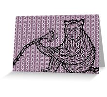 Strange ape 2 Greeting Card
