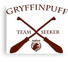 Gryffinpuff Seeker in red Canvas Print