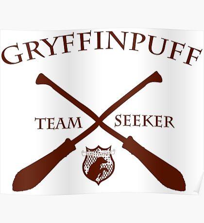 Gryffinpuff Seeker in red Poster