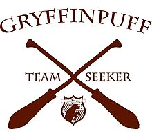 Gryffinpuff Seeker in red Photographic Print