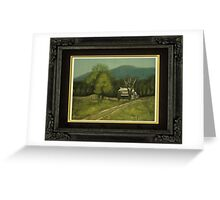 """""""Philip's Place"""", with a textured paper impression, in a matted and framed presentation, for prints and products Greeting Card"""