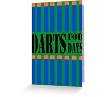 NERF TOY DESIGN- DARTS FOR DAYS! Greeting Card
