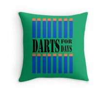 NERF TOY DESIGN- DARTS FOR DAYS! Throw Pillow