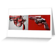 gun Greeting Card