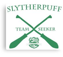Slytherpuff Team Seeker in Green Canvas Print