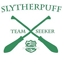 Slytherpuff Team Seeker in Green Photographic Print