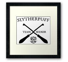 Slytherpuff Team Seeker Framed Print