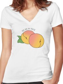 My peach. Women's Fitted V-Neck T-Shirt