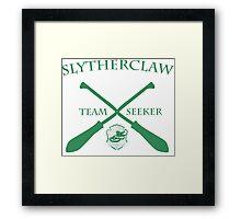 Slytherclaw Team Seeker in Green Framed Print
