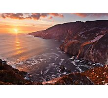 Setting Sun At Slieve League Photographic Print