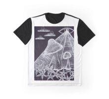 Trippy Eye Mushrooms Graphic T-Shirt