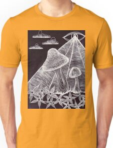 Trippy Eye Mushrooms Unisex T-Shirt