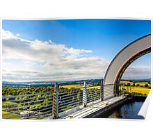 Atop the Falkirk Wheel Landscape Poster