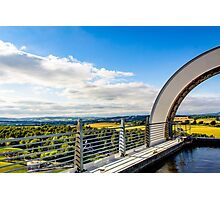 Atop the Falkirk Wheel Landscape Photographic Print