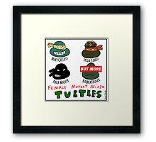 Female Mutant Ninja Turtles Framed Print