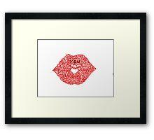 Red kiss Framed Print