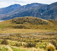 Mt Sunday - Site of Edoras 'Lord of the Rings' by Kathy Reid
