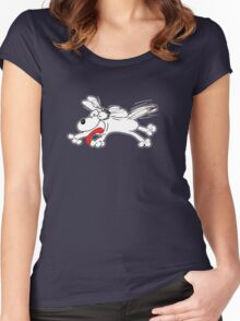 Puppy is excited about everything! Women's Fitted Scoop T-Shirt