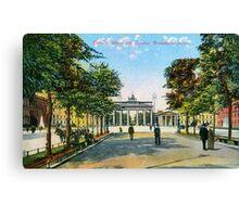 1890 Berlin Unter Den Linden, Brandenburg gate Canvas Print