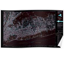 New York NY Long Island West 137378 1984 100000 Inverted Poster