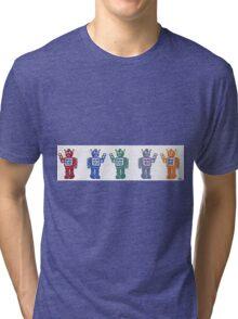Retro Robot Parade Tri-blend T-Shirt