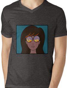 Daria Fire Glasses Mens V-Neck T-Shirt
