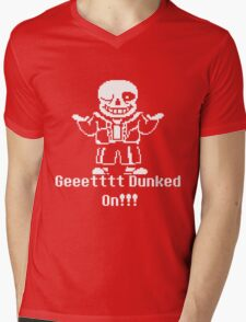Undertale Get Dunked On! Mens V-Neck T-Shirt