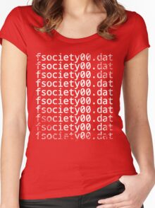 Mr. Robot - fsociety00.dat Women's Fitted Scoop T-Shirt