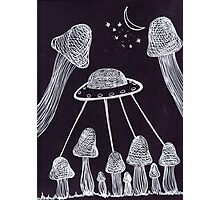 Trippy Alien Mushroom Photographic Print