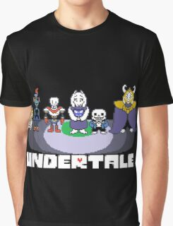 Undertale Crew w/logo  Graphic T-Shirt